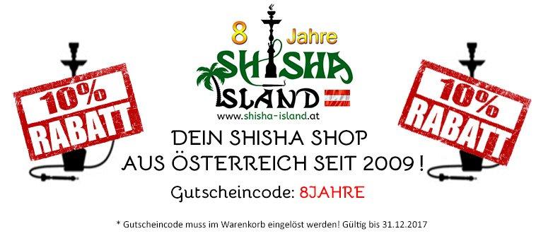 Shisha Island 8 Jahre